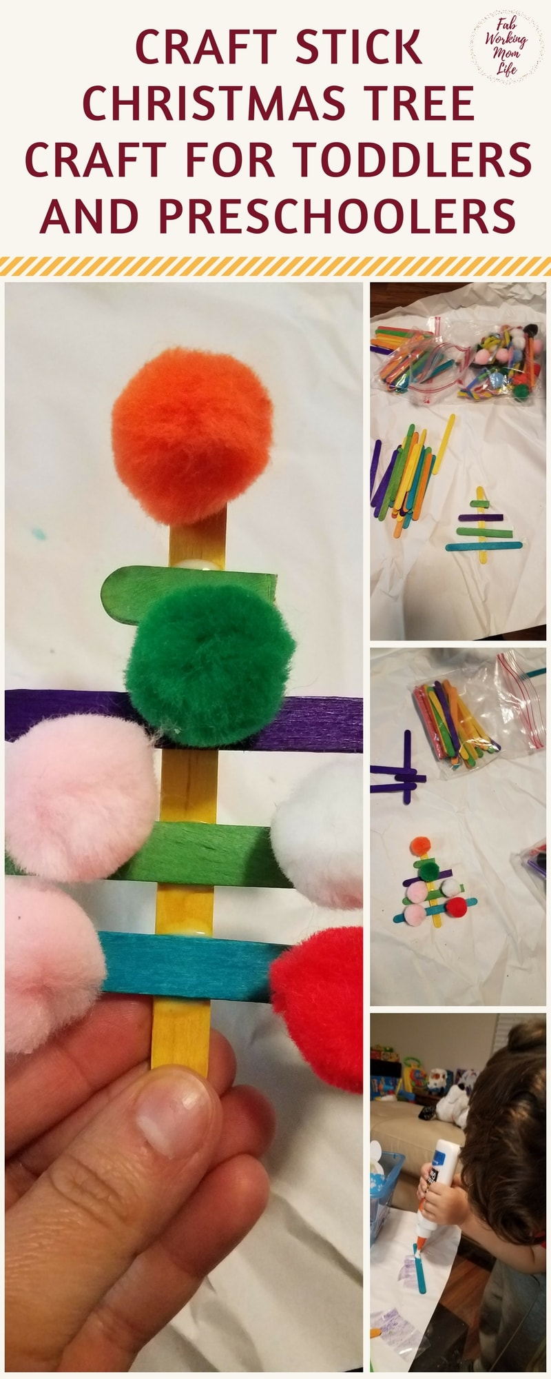 christmas crafts for toddlers craft stick tree and other simple winter crafts 3600